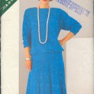 Butterick Sewing  Pattern 5524 Pullover Top and flaired skirt with hip band, Sizes 8 - 20