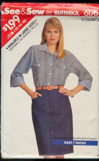 Butterick Sewing Pattern 6176 Blouse and Skirt Sizes 12 - 16