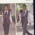 Butterick Sewing Pattern 6410 Vest, Pants, Skirt, Shirt and Jabot. Size 18 - 22
