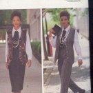 Butterick Sewing Pattern 6410 Vest, Pants, Skirt, Shirt and Jabot. Size 18 - 22