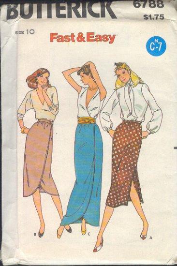 Butterick Sewing Pattern 6788 Three Skirts, Size 10