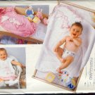 Butterick Sewing Pattern 4494 Baby Accessories, Bib, Towel, Bunting, Bunns & Bear Applique, One Size