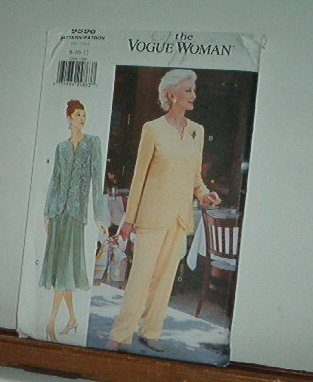 Vogue Sewing Pattern 9596 Pants, Tunic/Jacket, Flaired kirt, izes 14 16 18