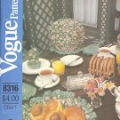 Vogue Sewing Pattern 8316 Table Gear One Size