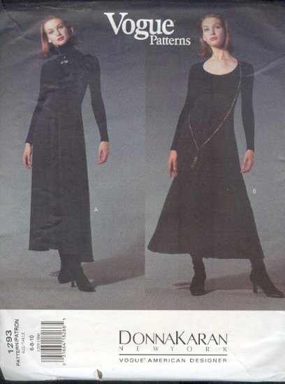 Vogue Sewing Pattern, 1293 Donna Karen DKNY Body Suit with attched dress, Size 6 8 10