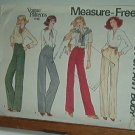 Vogue Sewing Pattern 1798 Pants for any body, fitting instructions, Size 30 waist