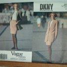 Vogue Sewing Pattern 2612 Donna Karen, DKNY Long Jacket and skirt, Size 8 10 12