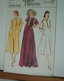 Vogue Pattern 7124  Big Dress. Lounge wear and maternity, Size 12
