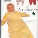 Vogue Sewing Pattern 7154, Baby bunting, mittens and hat. Size 12 - 21 lbs
