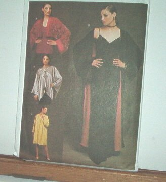 Vogue  Sewing Pattern  7351Kimono Coat, Jacket, Blouse, Sizes 6-22