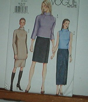 Vogue Sewing Pattern 7385 Skirt and two top styles, Size 8 10 12