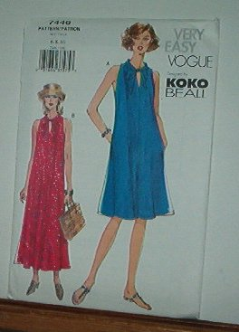 Vogue Sewing Pattern 7446 Summer Dress by Koko Beale, Size 6 8 10