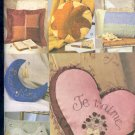 V ogue Sewing Pattern, 7044 Pillows, Dove, Moon, Heart, San Dollar, One Size