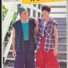 "Simplicity Sewing Pattern 0652 Hooded best shirt, shorts , unisex, Sizes 30-48"" chest"