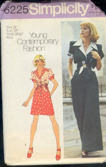 Simplicity Sewing Pattern, 6225 Dress and Jumpsuit, Size 12