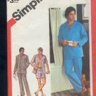 "Simplicity Sewing Pattern, 6381 Men's Pajamas, short and long, Size 42 - 44 "" chest"