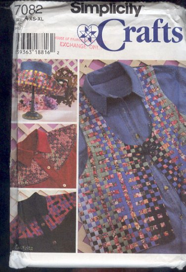Simplicity Sewing Pattern 7082 Shirt Vest and Hat Ribbon Weaving, Size 6-24