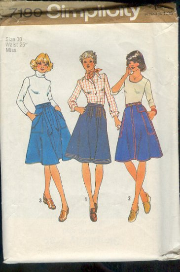 Simplicity Sewing Pattern 7089 Jeans Skirt, Size 10