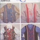 Simplicity Sewing Pattern 7231 Fancy Vests, four versions, Sizes 6-24