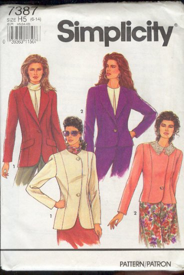 Simplicity Sewing Pattern  7387 Jack with four variations, Sizes 6 - 14