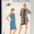 Simplicity Sewing Pattern 8122 Dress and big jacket, Size 10 - 16