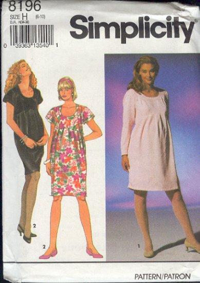Simplicity Sewing Pattern 8196 Maternity Dress, Size 6 - 10