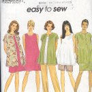 Simplicity Sewing Pattern 8529 Maternity Jacket, dress, top, shorts, pants ands kirt, Size 12 14 16