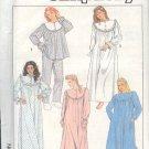 Simplicity Sewing Pattern 8914 Pajamas, Nightgown, Robe Size 6-8