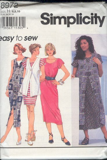 Simplicity Sewing Pattern 8972 Duster, Dress, Vest, Size 12 14 16