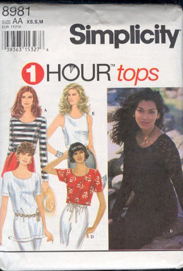 Simplicity Sewing Pattern 8981 Five easy tops, Size 6-16