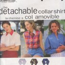 Simplicity Sewing Pattern 9100 Three blouses with seven different detachable collars, Size 6-16
