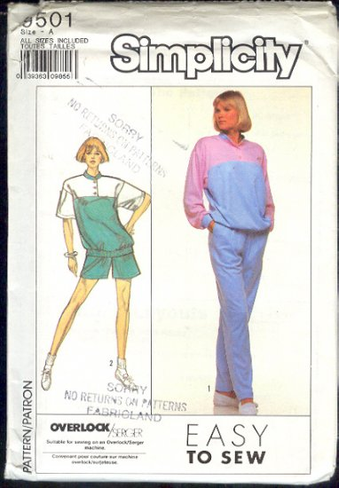 Simplicity Sewing Pattern 9501 Top, Pants and shorts, Size 6-24