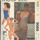 McCall's Sewing Pattern,  9089 Three Swim Suits.  ize 10 12 14