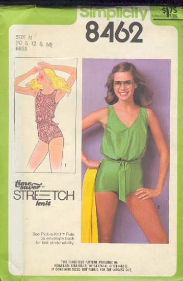 Simplicity Sewing Pattern 8462 Swim Suit Size 10 12 14
