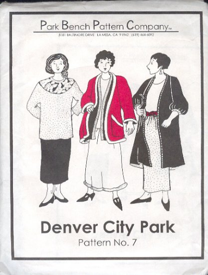Sewing Pattern, Park Bench Pattern Co. #7, Top and Skirt and Jacket, Sizes bust 49""