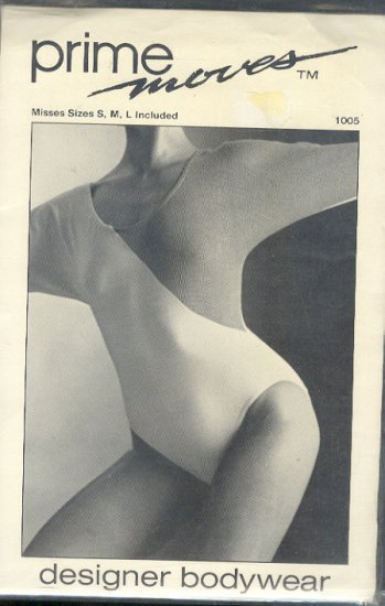Sewing Pattern, Prime Moves, 1005, Dolman Leotard, Sizes S M L
