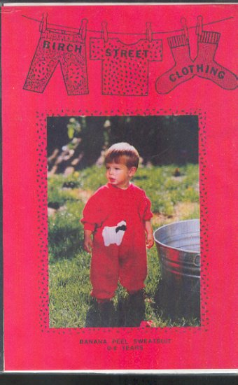 Sewing Pattern Birch Street Banana Peel Sweatsuit, 0 - 4 years