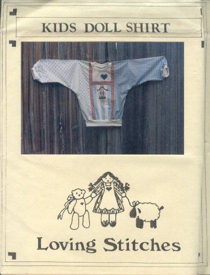 Sewing Pattern Loving Stitches, Kids Doll shirt, Sizes 3 - 12