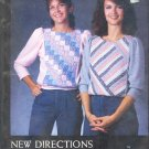 Sewing Pattern, New Directions, Patchwork tops, Sizes S M L