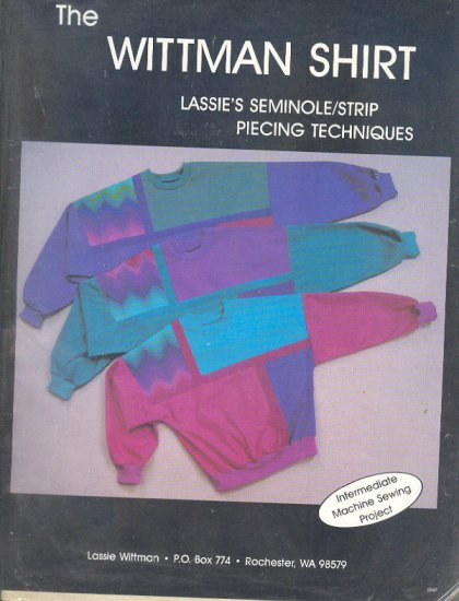 Sewing Pattern, by Lassie Whittman, Siminole Stripe, patchwork, Sizes S M L