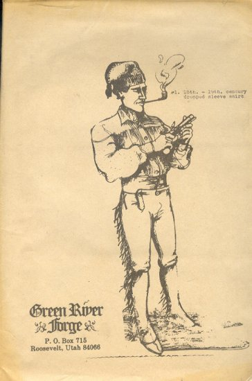 Sewing Pattern, Green River Forge, Reinactment, 18th/19th Century drop sleeve shirt, One Size