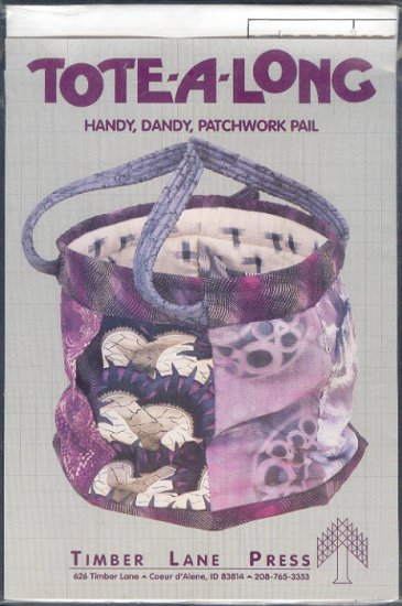 Sewing Pattern, Timber Lane Press, Patwork Pail, Large size only