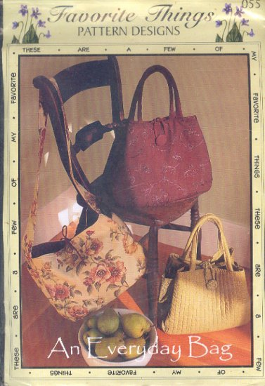 Sewing Pattern, Favorite Things 055  Handsome Purse, tote, hand or shoulder strap.