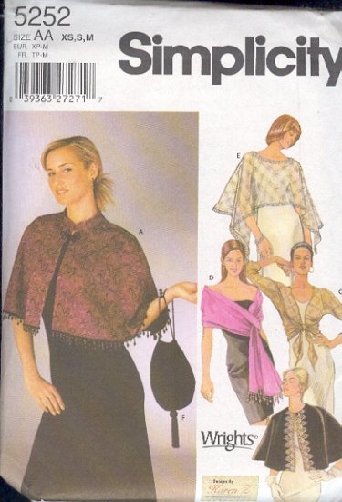 Simplicity Sewing Pattern 5252 Elegant coverups, by Karen Z, Sizes 6 - 16