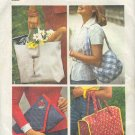 Simpliicty Sewing Pattern 7004, Four Bags, cut, One Size