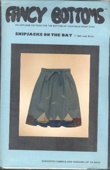 Sewing Pattern, Fancy Bottoms, Skipjacks on the Bay Applique', One Size