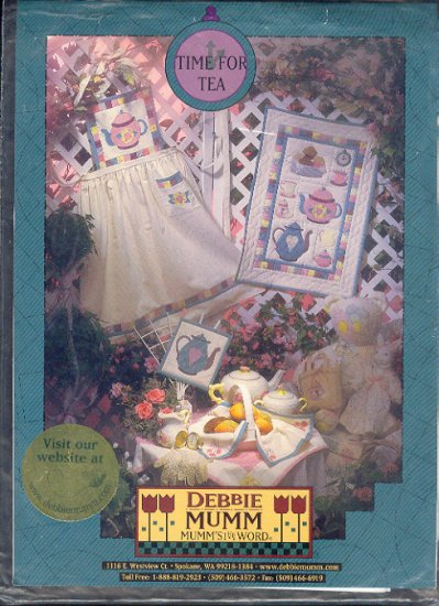 Sewing Pattern, Debbie Mumm, Time for Tea, Qulit, Cloth and Apron