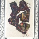 Sewing Pttern, Victorian Crazy quilt ornaments, folk embroidery with ribbons