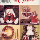Simplicity Sewing Pattern 0681 Christmas  Ornaments, Dolls, Bunny, Wreath, One size