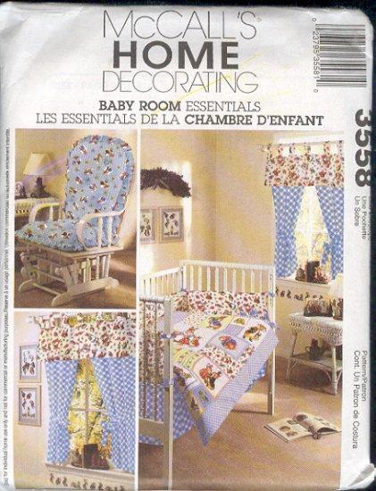 McCall's Sewing Pattern 3558, Baby Room, Nursery Decor